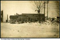 Image of Tornado damage to Jamison Bros. Automobiles, Lafayette, Indiana, 1911