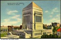 Image of Indiana World War Memorial, Indianapolis, Indiana, ca. 1912 - Dated January 18, 1912.