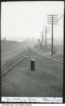 Image of Railroad tracks in South Whitley, Indiana, ca. 1940