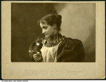 "Image of Portrait of Mrs. J. D. Cammack, Greencastle, Indiana, ca. 1890 - Stamped ""Cammack, Greencastle, Ind."" Portrait of the photographer's wife, Mrs. J. D. Cammack."