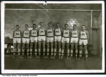"Image of Beaver Dam High School Basketball team, Beaver Dam, Indiana, ca. 1951 - Written on the back is ""Beaver Dam HS, #35 Bob Maggart"". The donor speculated that the date was 1950 or 1951."