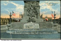 Image of Statues on the Soldiers' and Sailors' Monument, Indianapolis, Indiana, ca. 1914 - Postmarked November 6, 1914.