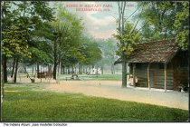 Image of Cabin at Military Park, Indianapolis, Indiana, ca. 1910