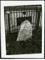 """Image of Gravestone of John Chapman (""""Johnny Appleseed""""), Fort Wayne, Indiana - Dated 11/11/05 on the back of the photo."""