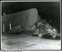 "Image of Truck accident by a railroad crossing, Lake County, Indiana, ca. 1950 - The truck appears to have the word ""Superior"" on the passenger side door. Photo is stamped ""Saidla Photo"" lower left corner."