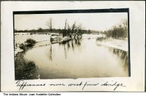 """Image of Tippecanoe River as seen from a bridge, Indiana, ca. 1920 - The caption reads """"Tippecanoe river west from bridge"""".   Image numbers ia-0001-1565 through ia-0001-1581 were all part of the same photo album."""
