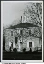 """Image of The first Indiana State Capitol building, Corydon, Indiana, ca. 1965 - Stamped on the back of the photo is """"Corydon Capitol"""" and the photographer credit."""