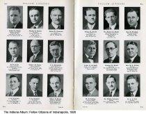 "Image of Page 80-81 of ""Fellow Citizens of Indianapolis,"" Indianapolis, Indiana, 1926 - Page 80-81 of ""Fellow Citizens of Indianapolis"" includes images of James R. Engle, Marion Ensley, Jmes D. Ermston, B. H. Ervin, Robert Espey, N. C. Estabrook, J. W. Esterline, Leon Ettinger, Albert O. Evans, Edgar H. Evans, Dr. Ernest N. Evans, Ray Everson,  Louis B. Ewbank (Indiana Supreme Court Justice), George B. Ewell, Rev. W. L. Ewing, H. M. Failing, Dr. Phillip Falender, Dr. L. S. Fall."