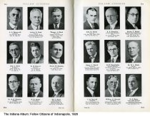 "Image of Page 122-123 of ""Fellow Citizens of Indianapolis"", Indianapolis, Indiana, 1926 - Page 122-123 of ""Fellow Citizens of Indianapolis"" includes images of architect A. A. Honeywell, Arthur M. Hood, Thomas S. Hood, John A. Hook, K. R. Hoover, Murat W. Hopkins, Dr. R. H. Hopkins, D. M. Hoppe, Edward C. Horst, John D. Horat, H. B. Hostetter, Healey T. Hottel, James A. Houck, H. H. Houghtalen, Dr. D. A. House, C. B. Howard, William H. Howard, H. E. Howe."