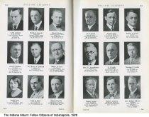 "Image of Page 148-149 of ""Fellow Citizens of Indianapolis,"" Indianapolis, Indiana, 1926 - Page 148-149 of ""Fellow Citizens of Indianapolis"" includes images of I. M. Lemaux, Ralph A. Lemcke, David Lennox, Gerge F. Lennox, Dr. Henry S. Leonard, ALbert W. Levi, Jessie Levy, Leon L. Levy, Isaac A. Lewis, O. E. Lewis, W.D. Lewis, Walter O. Lewis, John P. Leyendecker, J. J. Liddy, Herman P. Lieber, Robert Lieber, Robert Liebrich, Rev. Haldor Lillenas."