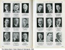 """Image of Page 158-159 of """"Fellow Citizens of Indianapolis"""", Indianapolis, Indiana, 1926 - Page 158-159 of """"Fellow Citizens of Indianapolis"""" includes images of Curtis McFarland, J. S. McFarland, E. E. McFerrin, J. E. McGaughey, Joseph A. McGowan, Blaine McGrath, Newton J. McGuire, Homer McKee, M. J. McKee, Robert McKee, W. E. McKee, Frank E. McKinney, Robert J. McLandress, W. T. McLaughlin, J. Arthur McLean, DOnald M. McLeod, Robert L. McMahan, H. S. McMichael."""