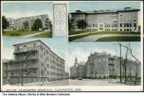 Image of Four views of St. Elizabeth Hospital, Lafayette, Indiana, ca. 1927 - Postmarked July 5, 1927.