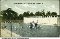 Image of Columbian Park Ladies' Swimming Pool, Lafayette, Indiana, ca. 1914 - Postmarked August 20, 1914.