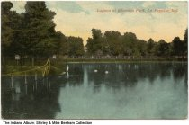 Image of Lagoon at Columbia Park, Lafayette, Indiana, ca. 1913 - Postmarked August 4, 1913.