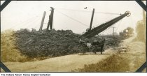 Image of Dredging a ditch near Solitude, Indiana, ca. 1915