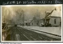 Image of Snow on East 5th Street, Mount Vernon, Indiana, ca. 1932