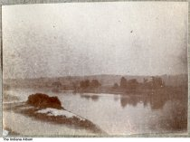 Image of The Wabash river near Perrysville, Indiana, ca. 1885 - This photo was taken from an album containing images of Perrysville, Indiana.