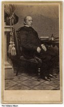 """Image of Portrait of Caleb B. Smith, ca. 1860 - On the back is written """"C. B. Smith, Hon. Caleb Smith of Indiana. Sec. of Interior under Lincoln."""""""
