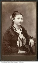 Image of Woman photographed by M. A. Gallup, LaGrange, Indiana, 1877 - Dated February 10, 1877 on the back.