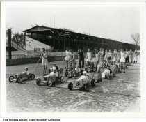 Image of Soap box derby race, Indianapolis, Indiana, ca. 1935