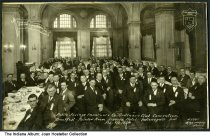 """Image of Banquet in the Severin Hotel Rainbow Room, Indianapolis, Indiana, 1924 - The caption reads """"Public Savings Insurance Co. Ordinary Club Convention - Breakfast, Rainbow Room, Severin Hotel. Indianapolis, Ind. Feb. 9th 1924."""""""