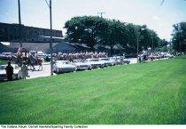 Image of Group on horseback in a parade, Wabash, Indiana, ca. 1960 -