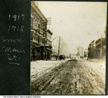 Image of Snow on Main Street, Mount Vernon, Indiana, ca. 1917