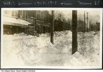 Image of Horse wagon on snowy Main Street, Mount Vernon, Indiana, ca. 1917 -