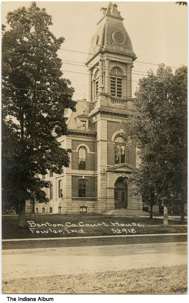 Benton County Courthouse, Fowler, Indiana, circa 1911