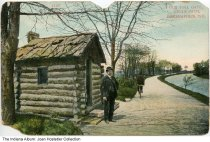 Image of Old Toll Gate on a cycle path, Indianapolis, Indiana, ca. 1910