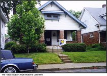 Image of House with a Pacers flag, Indianapolis, Indiana, ca. 1965