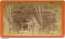 Image of Ceiling and decorations inside the Statehouse, Indianapolis, Indiana, ca. 1880