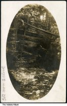 Image of Rocky cliff in a forest, Indiana, ca. 1922 - Postmarked December 1, 1922.