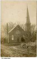 Image of Church in Saline City, Indiana ca. 1911 - Postmarked October 19, 1909.