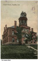 Image of Crawford County Courthouse, English, Indiana ca. 1910