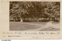 Image of Newton Park, Lawrenceburg, Indiana ca. 1906 - Postmarked March 25, 1906.