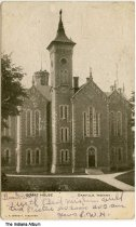 Image of Hendricks County Courthouse, Danville, Indiana, ca. 1906 - Postmarked August 7, 1906.