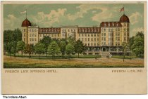 Image of Artwork of French Lick Springs Hotel, French Lick, Indiana, ca. 1905