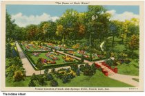 Image of Formal gardens at French Lick Springs Resort, French Lick, Indiana, ca. 1935
