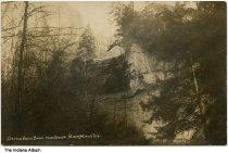 Image of Devil's Backbone rock formation, Bluff Mills, Indiana, ca. 1910 -