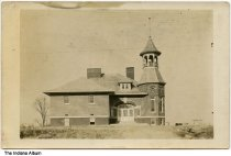 """Image of Coloma School, Reserve Township, Parke County, Indiana, 1911 - Handwritten on the back is """"Coloma School 1911."""" Coloma in Reserve Township in Parke County was also known as Rocky Run."""