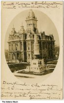 Image of Randolph County Courthouse, Winchester, Indiana, ca. 1906 - Postmarked April 9, 1906.