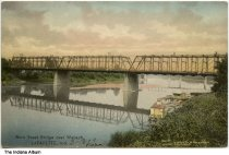 Image of Main Street Bridge over the Wabash River, Lafayette, Indiana, ca. 1909 - Dated March 18, 1909 on the front.