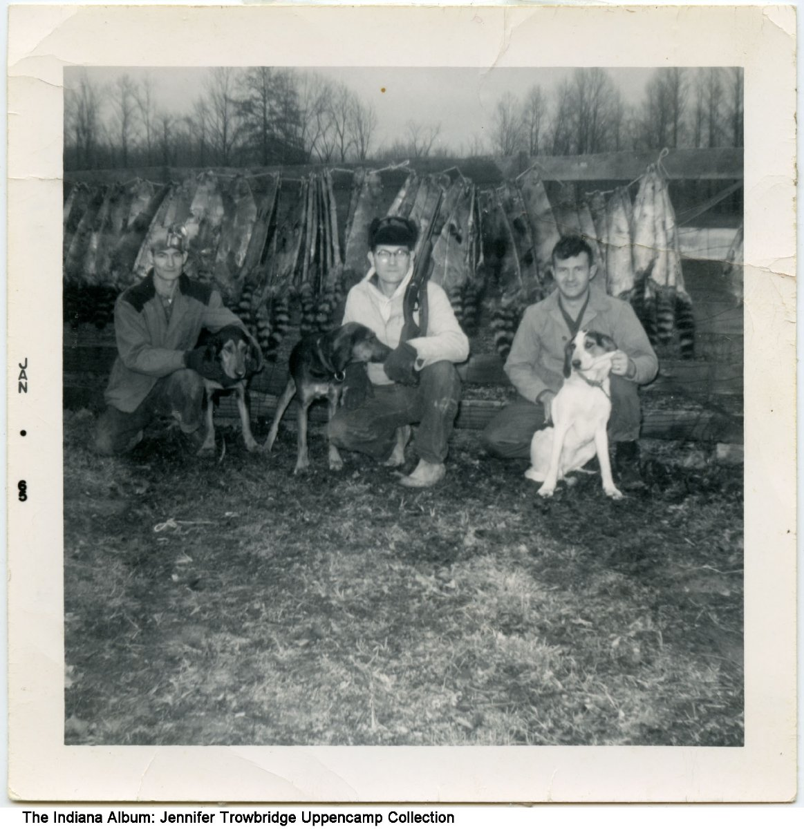 Indiana pike county otwell - Racoon Hunters And Their Dogs Otwell Indiana Ca 1965 Left To Right James Roy Uppencamp Edward Uppencamp And Tom Osgatharp
