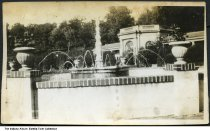 """Image of Fountain at West Baden Springs Hotel, West Baden Springs, Indiana, ca. 1920 - On the back it reads """"The sprays of water came out of frogs mouths and fell on turtles backs. West Baden."""""""