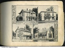 Image of Four local residences, Petersburg, Indiana, 1894 - Seen are the residences of Dr. I. H. LaMar, Joseph McBay, Mrs. Sarah Glezen, and G. J. Nichols. 