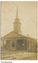Image of Christian Church, Liberty, Indiana, ca. 1909 - Postmarked January 7, 1909.