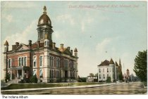 Image of Courthouse and Memorial Hall, Wabash, Indiana, ca. 1910