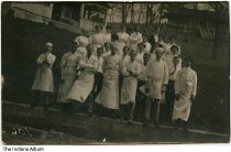 Image of Staff at the Mudlavia Hotel, Kramer, Indiana, ca. 1910 - Postmarked February 14, 1906.
