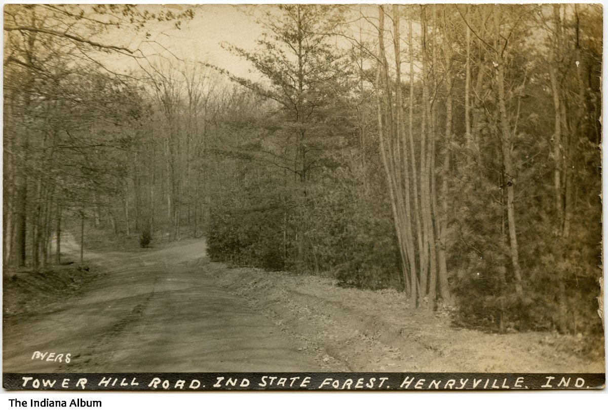Tower Hill Road in Indiana State Forest, Henryville, Indiana, 1933